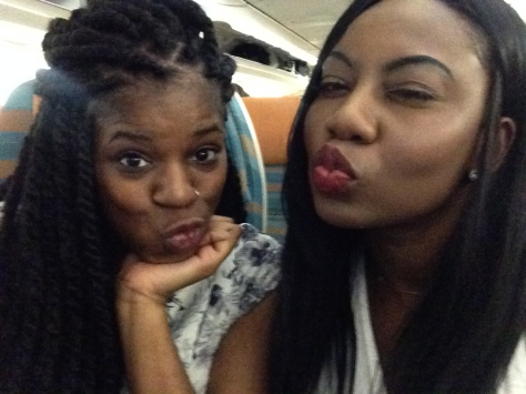 Ready for take-off. I went on the trip with my lovely friend Bunmi.