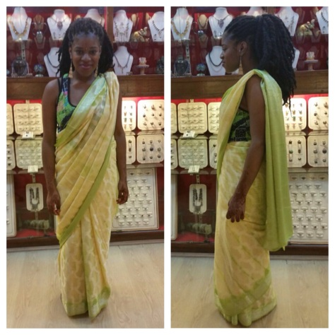 Tried on a Sari in Agra - Loved it but didn't buy it as realistically I have nowhere to wear it to. What do you think?