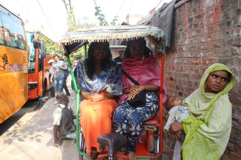 Rickshaw ride through Old Delhi.