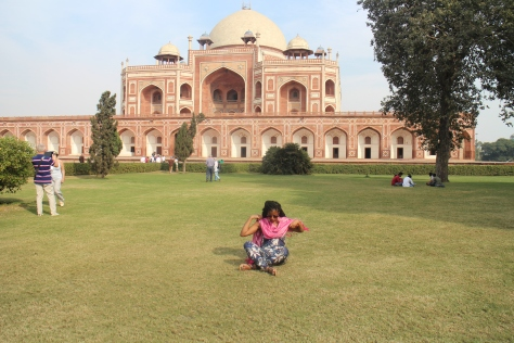 Humayun's Tomb - I used a scarf to cover my shoulders when i was in public.