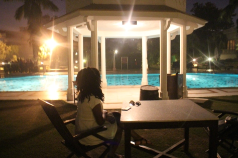 Poolside chilling - Regretted this the next day. Mosquitoes came and enjoy my body very well.