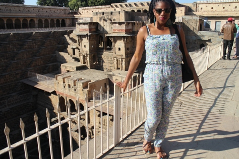 On the way to Jaipur, we stopped off at Chand Baori - one of the oldest stepwells in Rajastan