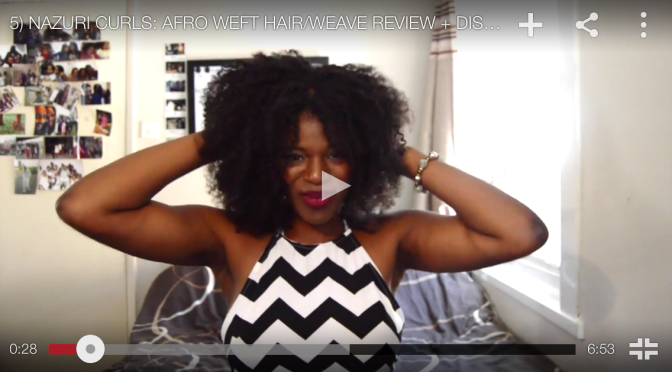 NAZURI CURLS: Afro Weft Hair Review including DISCOUNT CODE